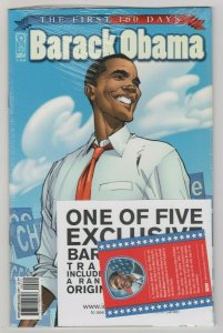 BARACK OBAMA THE FIRST 100 DAYS SEALED 2009 IDW J SCOTT CAMPBELL COVER