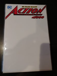 ACTION COMICS #1000! VF / NM! WHITE BLANK VARIANT COVER!