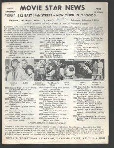 Movie Star News Mail Order Sales Catalog Supplement #GG 1960's-Irving Klaw-8 ...