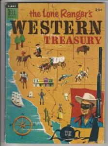 Lone Ranger's Western Treasury Dell Giant #2 (Aug-54) VG+ Affordable-Grade Th...