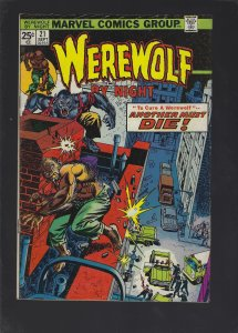 Werewolf by Night #21 (1974)