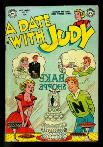 Date with Judy #37 1953 - Wedding Cake cover- DC  Humor- VG