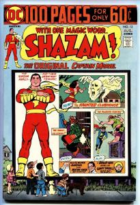 SHAZAM #13-1973-DC-CAPT MARVEL-One Hundred Pages-nm-