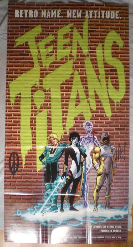 TEEN TITANS Promo Poster, 28x50, 1996,Unused, more in our store