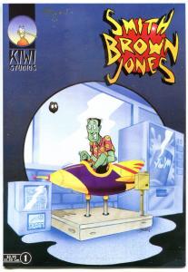 SMITH BROWN JONES - ALIEN ACCOUNTANT #1 2 3 4 5, NM, 5 issues, Signed Bean + Art