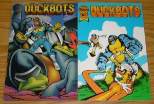 DuckBOTS #1-2 FN/VF complete series - robot ducks - blackthorne comics 1987 set