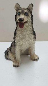 Figura perro de resina: Husky de 8x6 cm