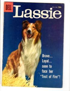 Lassie # 37 FN/VF 1957 Dell Silver Age Comic Book Photo Cover Collie Dog JL2