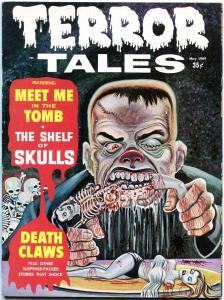 Terror Tales #8 1969- Rare Eerie Horror Magazine- 2nd issue- Brutal Frankenstein
