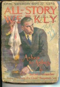 All-Star Weekly 9/27/1919-Modest Stein-Isabel Ostrander-Max Brand-Hulbert Foo...