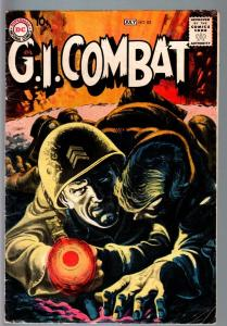G.I COMBAT #82-REALLY COOL GREYTONE COVER-DC WAR SILVER AGE VG-