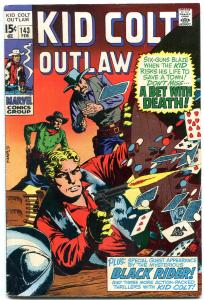 Kid Colt Outlaw #139 1970- Poker playing cards cover- Marvel Western FN