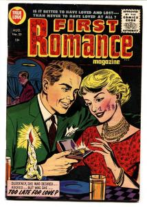FIRST ROMANCE #35-1955-SPICY POSES-Harvey-Comic Book