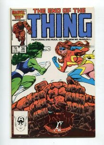 Thing 36 NM Final Issue Ms. Marvel Appearance