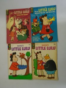 Silver age Little Lulu comic lot 4 different 4.0 VG (Gold Key)