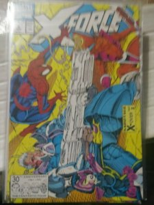 X-Force # 4 1991, Marvel  SPIDER-MAN CABLE DOMINO ROB LIEFELD 3RD DEADPOOL