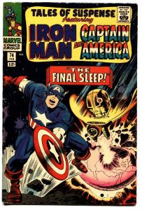TALES OF SUSPENSE #74 comic book 1965-IRON MAN/CAPTAIN AMERICA-MARVEL FN+