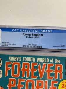 Forever People 4 Cgc 9.4 Ow/w Pages Dc Comics Jack Kirby