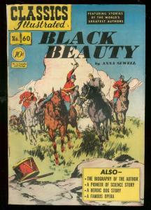 CLASSICS ILLUSTRATED #60 HRN 62-BLACK BEAUTY-1ST EDITIO FN-