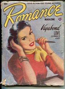Romance 2/1953-Popular-pin-up girl style cover-pulp love stories-GOOD
