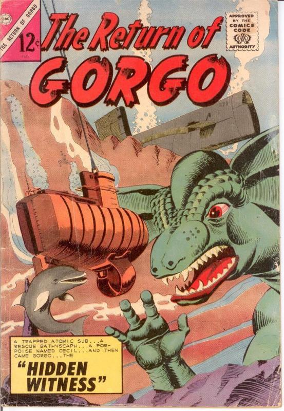 RETURN OF GORGO 3 GOOD Dikto art Fall 1964 COMICS BOOK