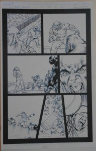 DAVID YARDIN / JAY LEISTEN original art, BLACK PANTHER #9 pg 17, 2005, Apes