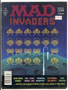 Mad Magazine #230 1982- Space Invaders- General Hospital VG