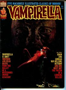 Vampirella #43 1975-Warren-Vampi cover-terror & mystery stories-FN/VF