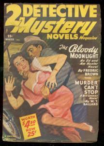 2 DETECTIVE MYSTERY NOVELS-WINT 1950-HEADLIGHT CVR-PULP FN