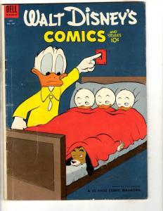 Walt Disney's Comics & Stories # 166 FN Dell Comic Book Donald Duck JL3