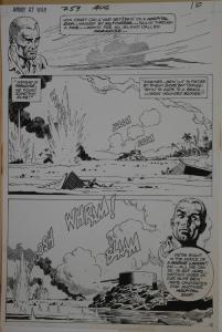 RUSS HEATH original art, OUR ARMY at WAR #259, Two pgs #12-13, Marines needing a