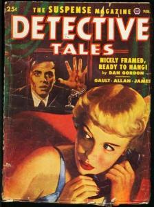DETECTIVE TALES 1952 FEB-GGA COVER-GREAT PULP-good/very good G/VG