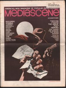 Mediascene #14 7/1975-Supergraphics-Shadow-Steranko-Great Pulp Heroes-VG