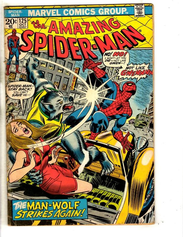 Amazing Spider-Man # 125 FN Marvel Comic Book Green Goblin Vulture Mary Jane JG9
