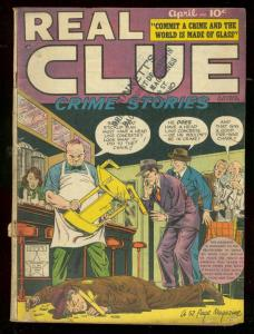 REAL CLUE CRIME v.4 #2 1949-HILLMAN-BROOKLYN BRIDGE VG