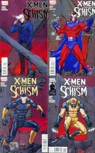 X MEN PRELUDE TO SCHISM (2011) 1-4  complete series!