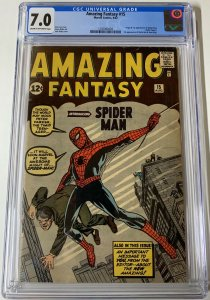 Amazing Fantasy 15 Spider-man 1 2 3 4 5 6 7 8 9 10 11 12 13 14 15 16-50 Cgc 7.0+
