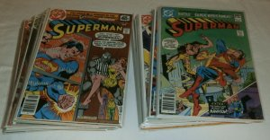 Lot of 40 comics: Superman V1 #331-380 (missing 10) Bates Swan Luthor Bizarro