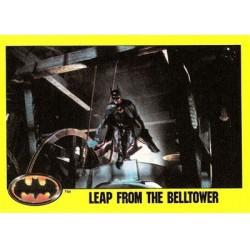 1989 Batman The Movie Series 2 Topps LEAP FROM THE BELLTOWER #145