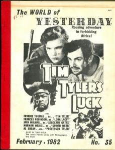World of Yesterday  #35 2/1982-Tim Tyler's Luck-Frankie Thomas-Jones Family-G/VG