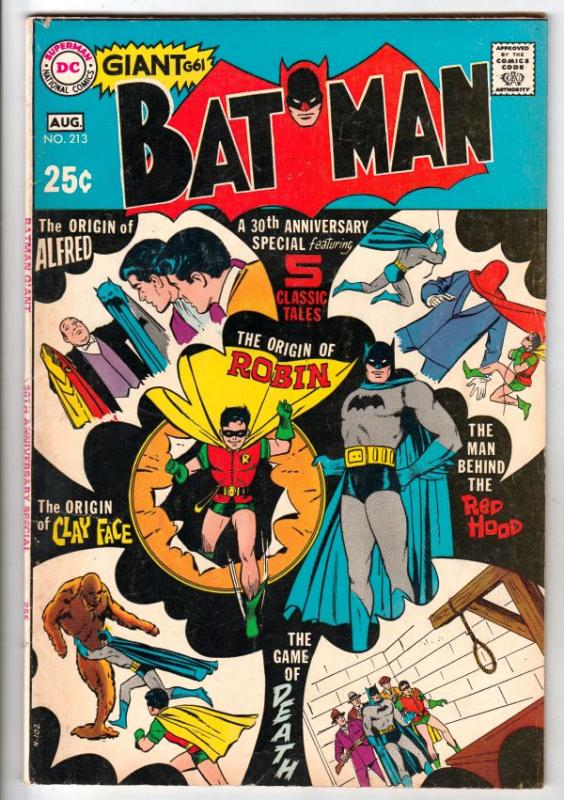 Batman #213 (Aug-69) VF High-Grade Batman