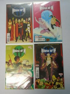 House of M set #1-4 8.0 VF (2015 2nd Series)