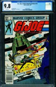 G.I. Joe Real American Hero #13 CGC 9.8 1983 NEWSSTAND variant-2038138020