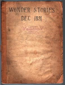 WONDER STORIES 12/1931-SCI-FI PULP-BARGAIN COPY P/FR