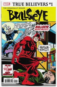 True Believers Criminally Insane #1 Rep Daredevil #131 1st Bullseye (NM)
