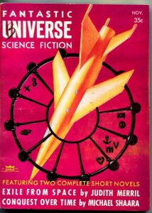 FANTASTIC UNIVERSE SCIENCE FICTION-Nov 1956-Pulp-HANNES BOK-WM F NOLAN