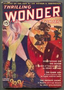 Thrilling Wonder Stories April 1938- Hollywood On The Moon