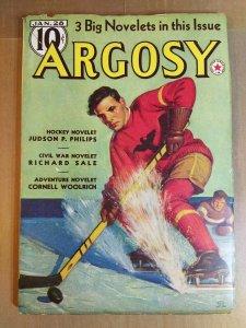 Argosy Jan 28, 1939 - Edgar Rice Burroughs/Cornell Woolrich - Vol 287 No. 6