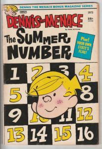 Dennis the Menace Bonus Magazine Series #6598 (Jul-73) FN Mid-Grade Dennis