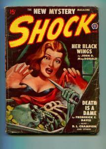 SHOCK MARCH 1948 #1-POPULAR PUBLISHING-JOHN D MACDONALD-VG